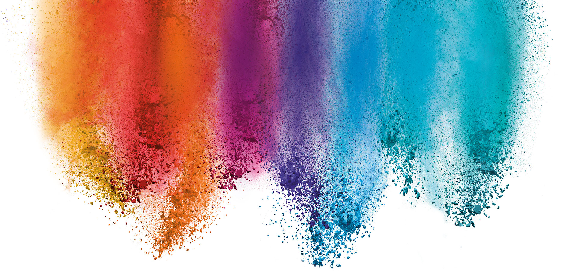 Rainbow smear artwork